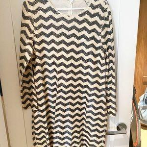 chevron pattern sequin short dress from j crew